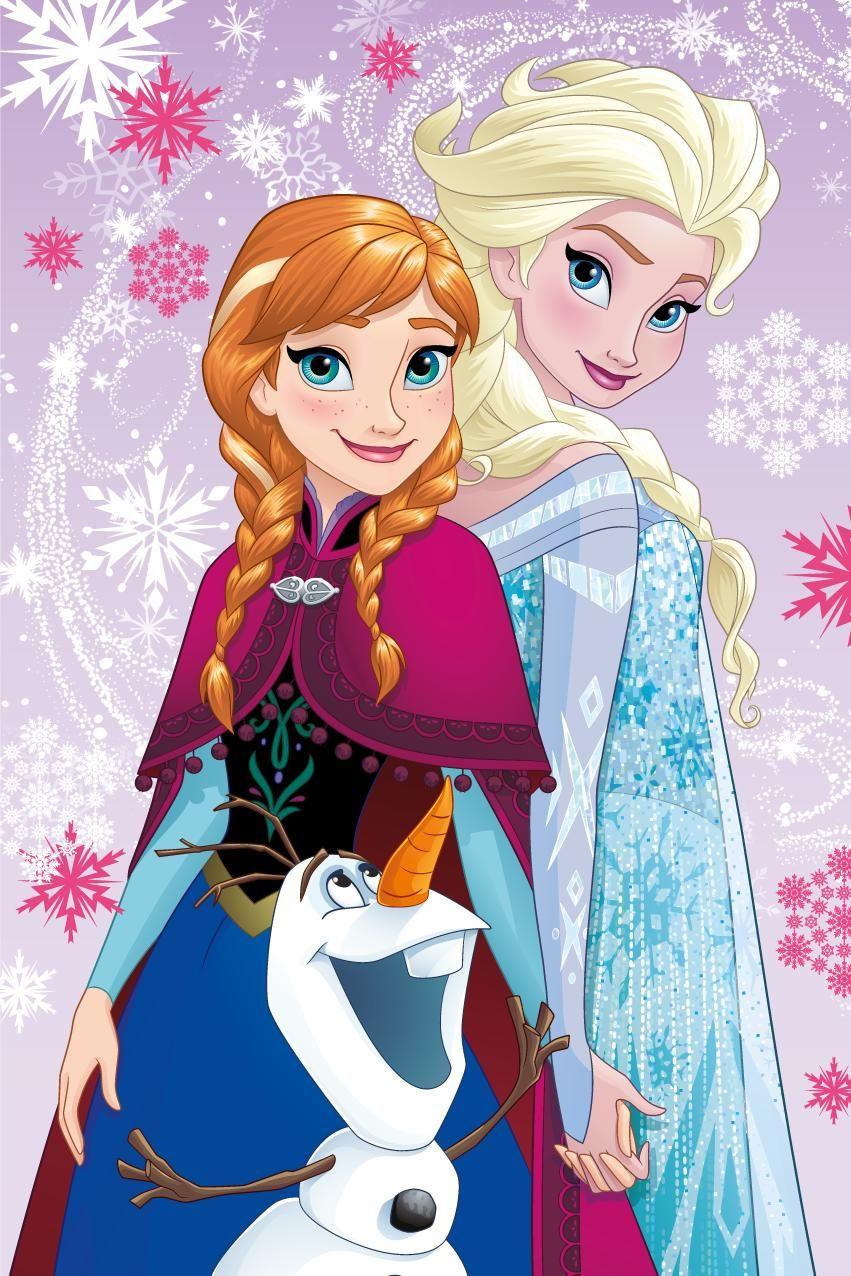 Dětská fleecová deka Frozen magic