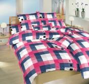Vzor malých kociek a veľkých kociek na kvalitnom krepovom posteľných obliečkach Chess staroružový, Dadka
