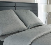 Vo farbách šedej a tyrkysovej luxusné damaškové posteľné obliečky Star nordic II. šedotyrkysová, Veba