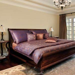 Luxusné damaškové posteľné obliečky BESTAR Persia modrohnedé, Veba