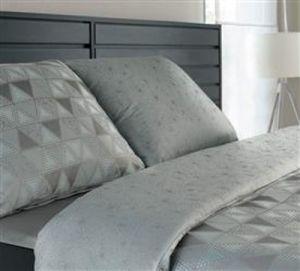 S geometrickým vzorom luxusné damaškové posteľné obliečky Star nordic I. šedortyrkysová, Veba